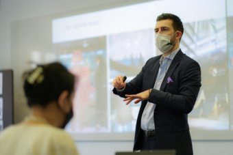 Youri Sawerschel teaches 'Designing Hotel and Restaurant Concepts' at the new EHL Singapore campus